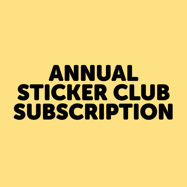 Annual Sticker Club of the Month Club Subscription